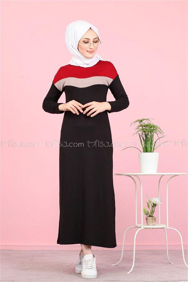 Elbise Bordo - 3081