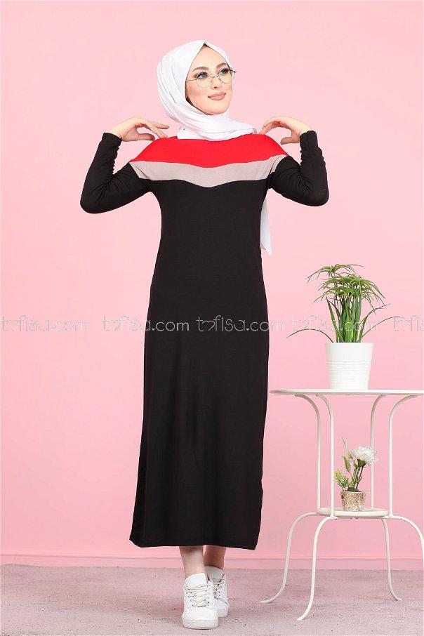 Elbise Kırmızı - 3081