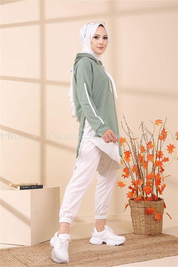 Garnili Tunik Yeşil - 3242