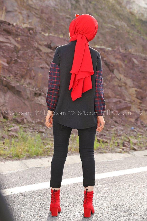 Gömlek Lacivert Kırmızı - 3331