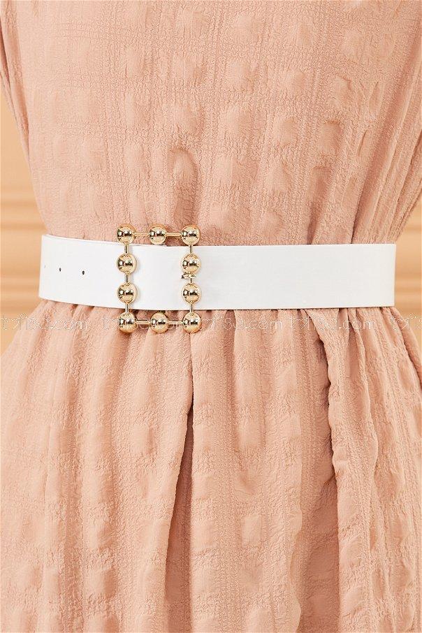 Heel Buckle Belt WHITE - 20388