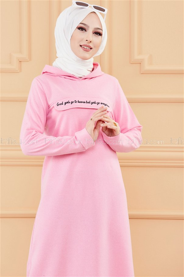 Hooded Dress Pink - 3360
