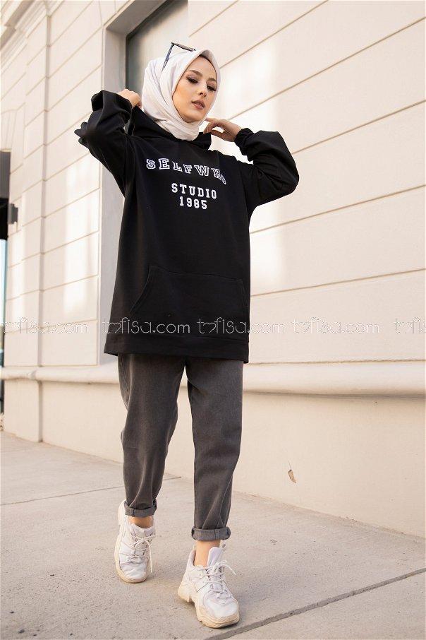 Hooded Sweat Black - 3322