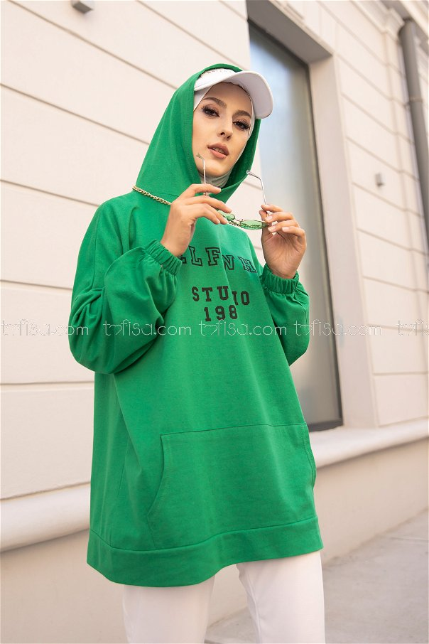 Hooded Sweat Green - 3322