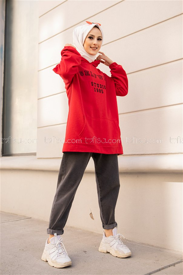 Hooded Sweat Red - 3322