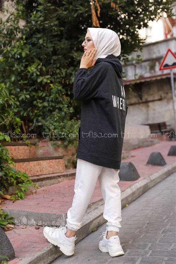 Hooded Sweatshirt Anthracite - 3258