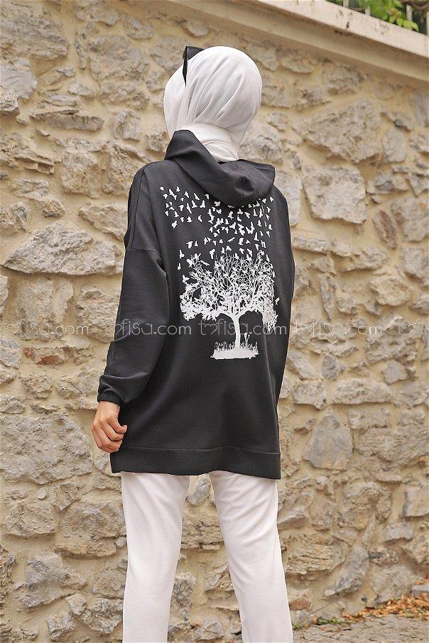 Hooded Sweatshirt Anthracite - 3293