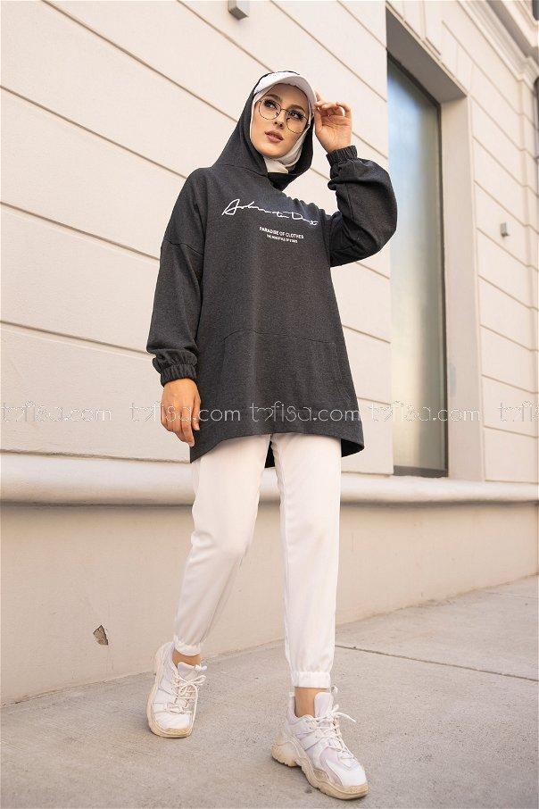 Hooded Sweatshirt Anthracite - 8617