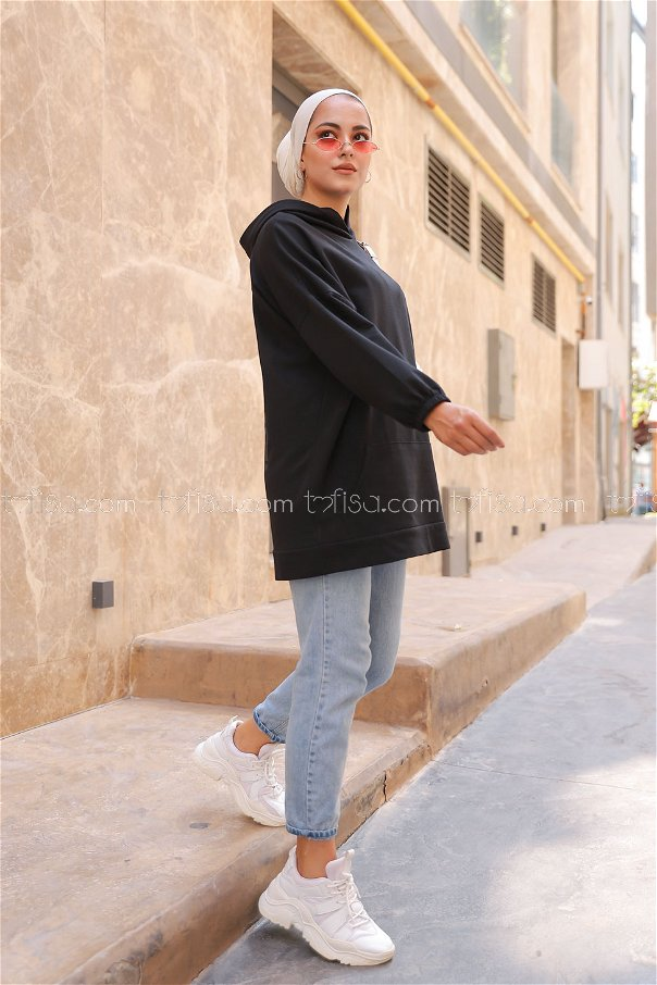 Hooded Sweatshirt Black - 3258