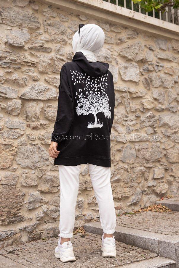 Hooded Sweatshirt Black - 3293
