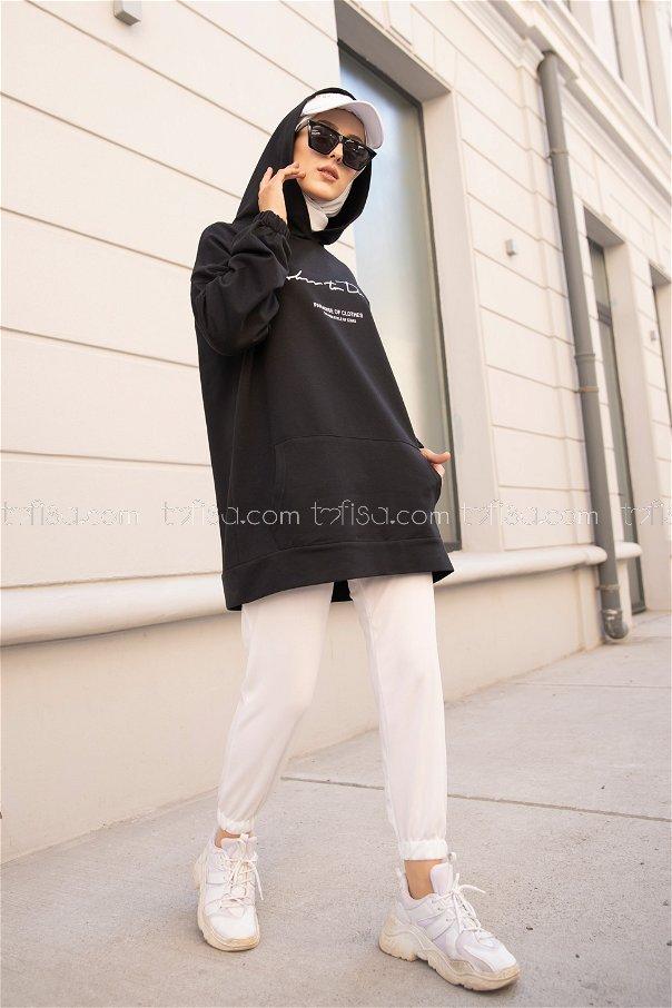 Hooded Sweatshirt Black - 8617