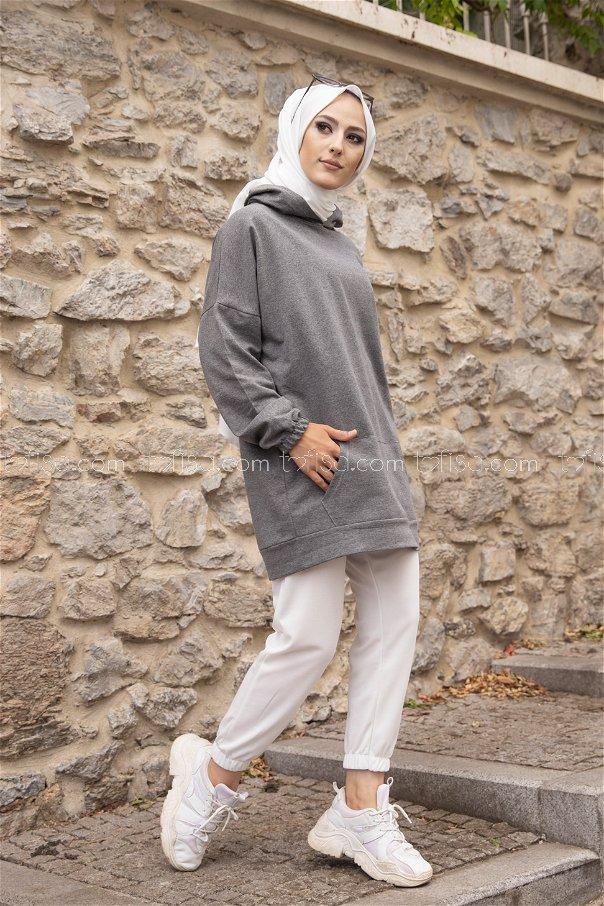 Hooded Sweatshirt Dark Gray - 3293