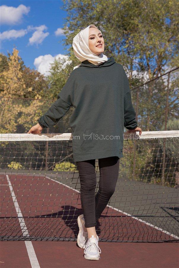 Hooded Sweatshirt Emerald - 3258