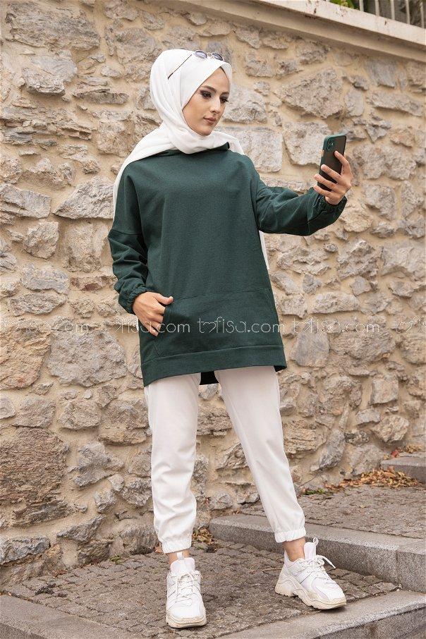 Hooded Sweatshirt Emerald - 3293