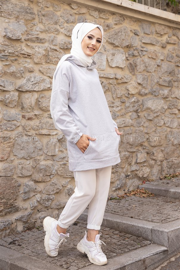 Hooded Sweatshirt Grey - 3293