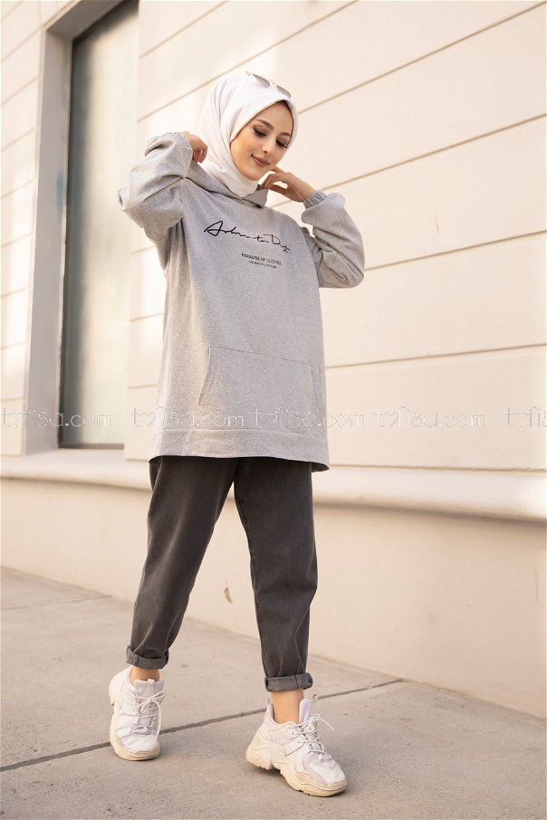 Hooded Sweatshirt Grey - 8617