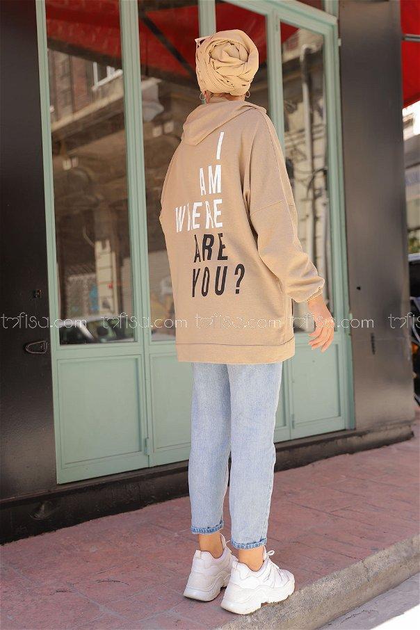 Hooded Sweatshirt Mink - 3258