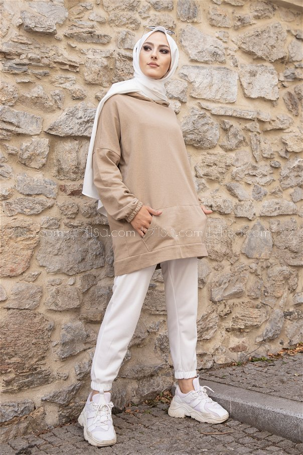 Hooded Sweatshirt Mink - 3293
