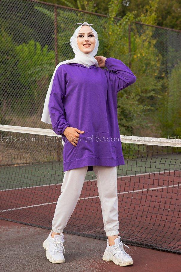 Hooded Sweatshirt Purple - 3258