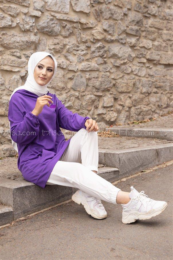 Hooded Sweatshirt Purple - 3293