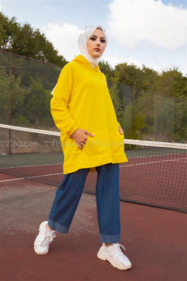 Hooded Sweatshirt Yellow - 3258