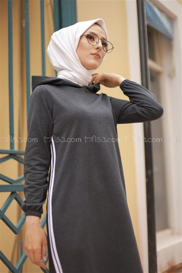 Hooded Tunic Anthracite - 5257