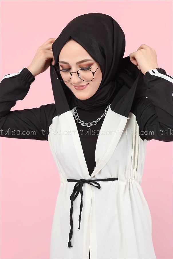 Hooded Tunic Black - 3059
