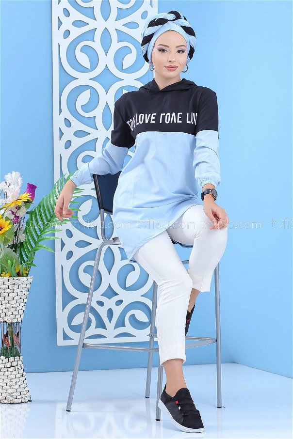 Hooded Tunic Blue - 02 7100