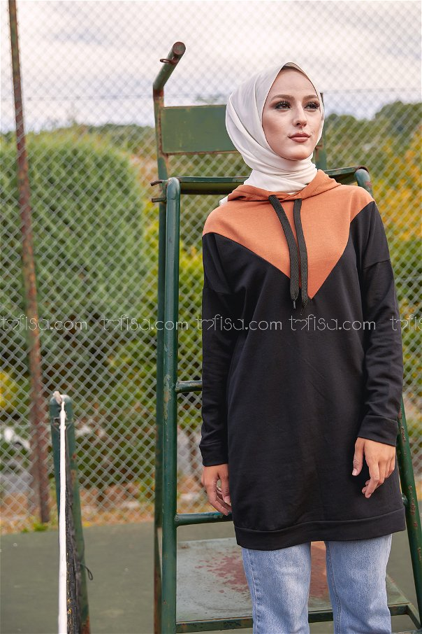 Hooded Tunic Brown - 3235