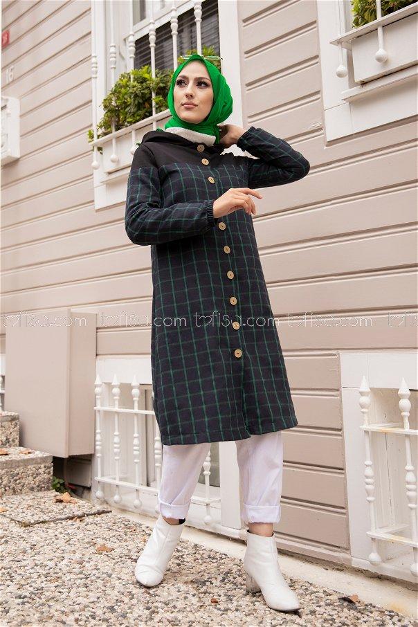 Hooded Tunic Green - 8609