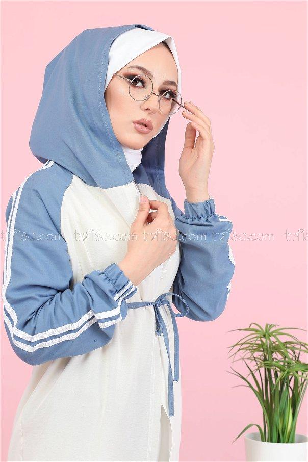 Hooded Tunic Indigo - 3059