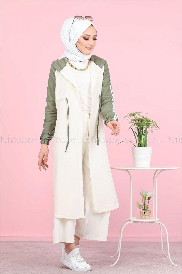 Hooded Tunic Khaki - 3059