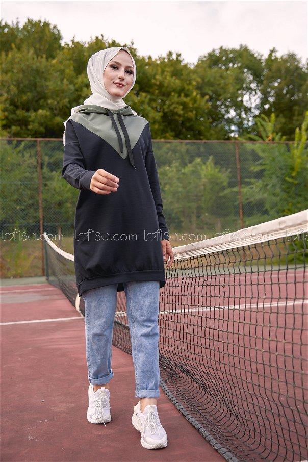 Hooded Tunic Khaki - 3235