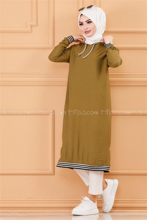 Hooded Tunıc KHAKI - 3534