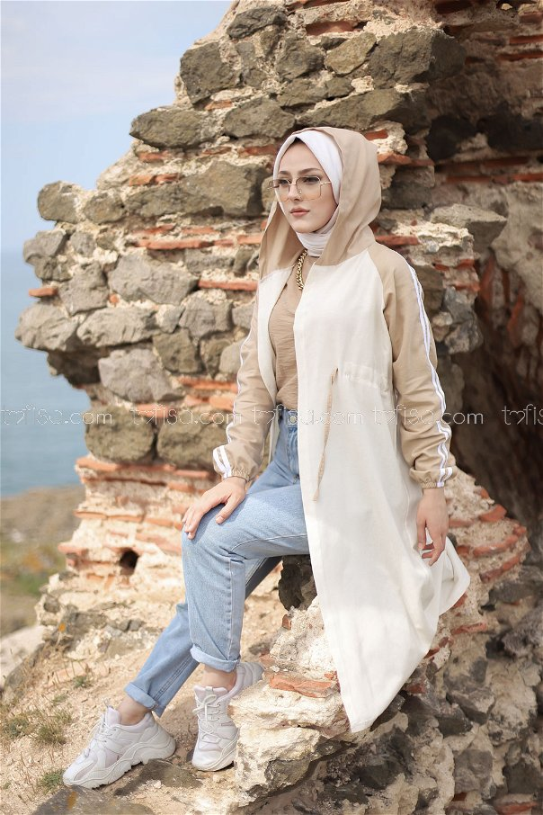 Hooded Tunic Mink - 3059