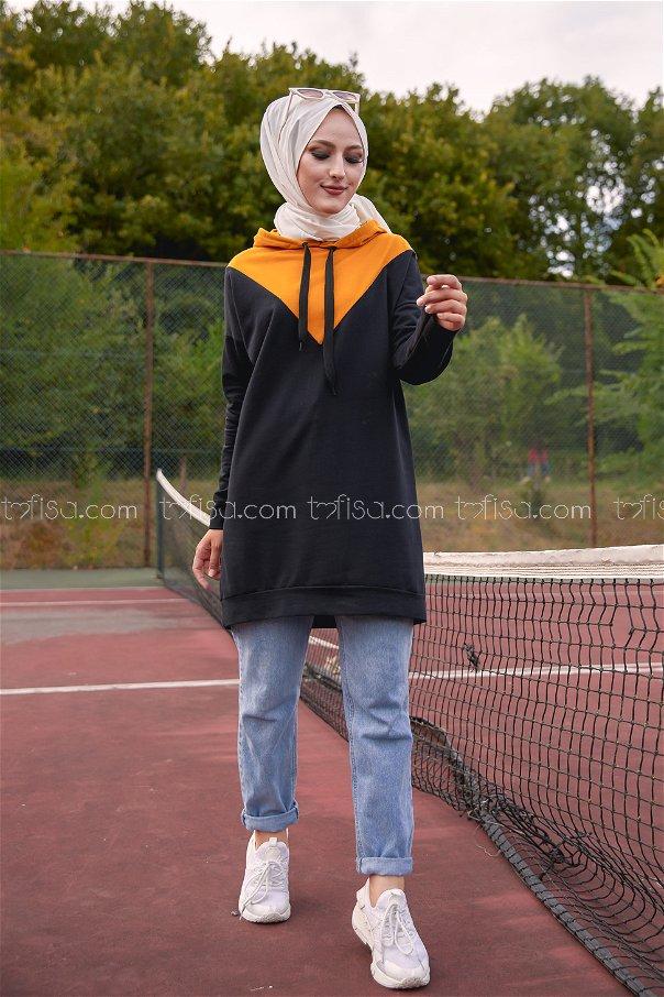 Hooded Tunic Mustard - 3235