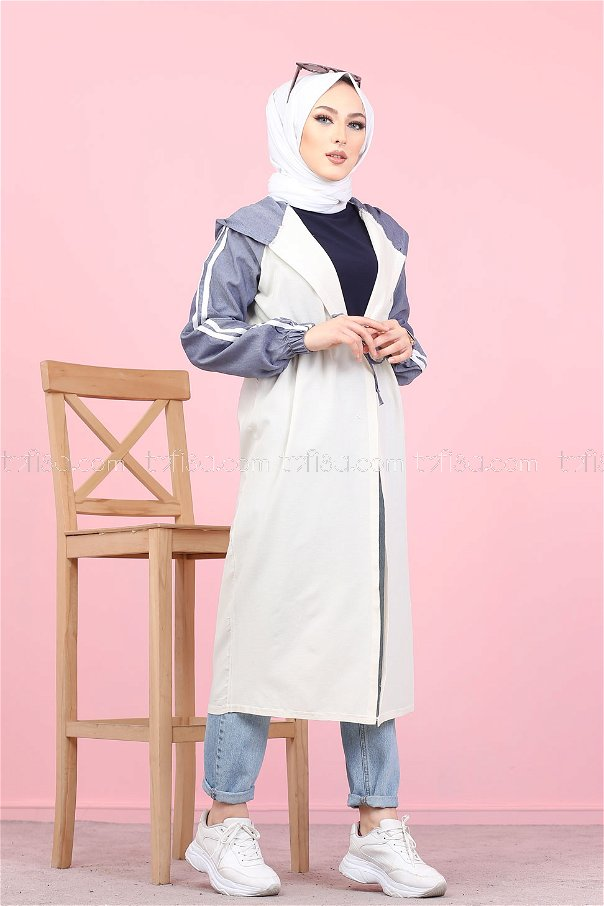 Hooded Tunic Navy Blue - 3059