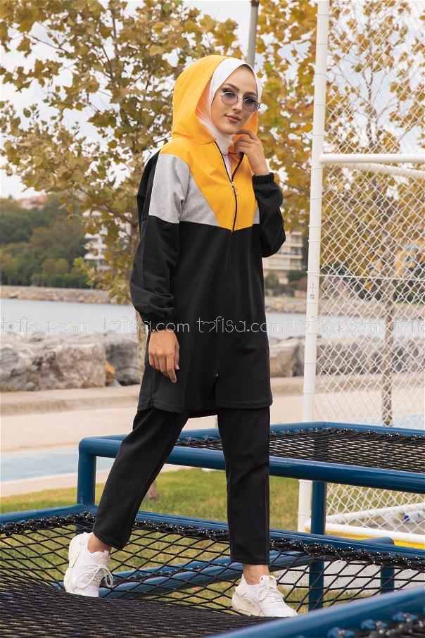 Hooded Tunic Pant Mustard - 4129