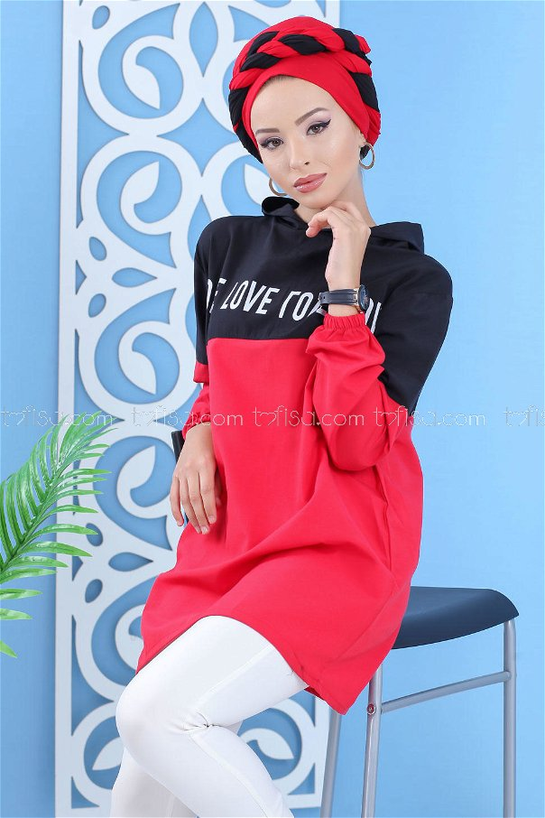Hooded Tunic Red - 02 7100