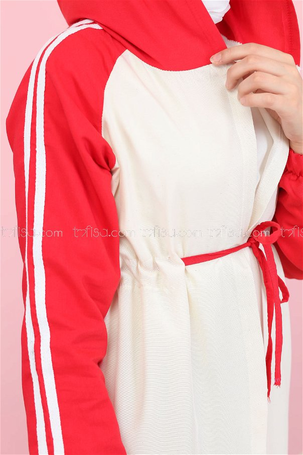 Hooded Tunic Red - 3059
