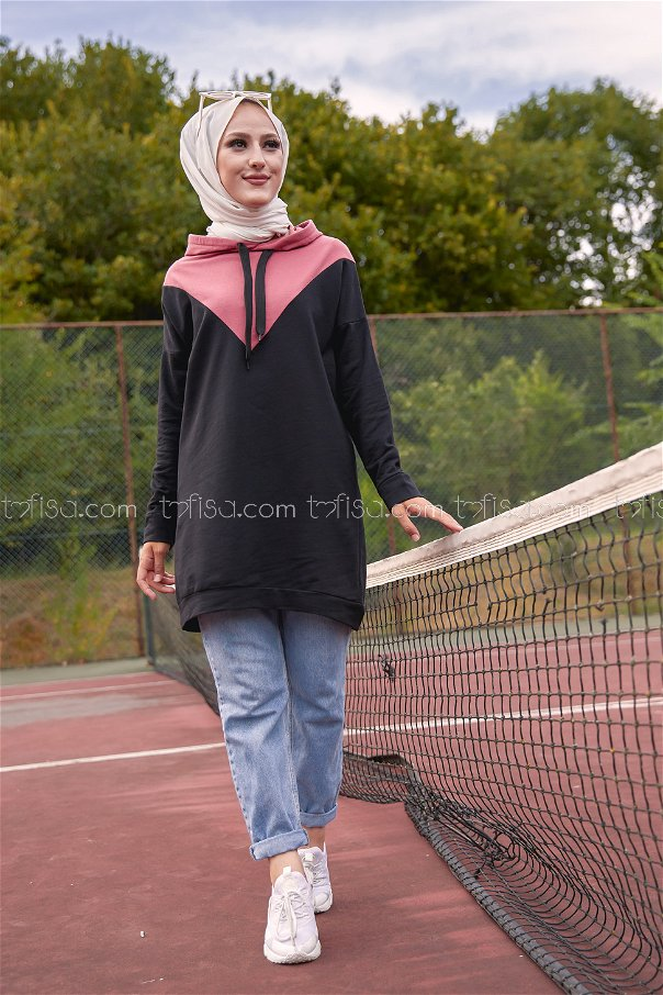 Hooded Tunic Rose - 3235