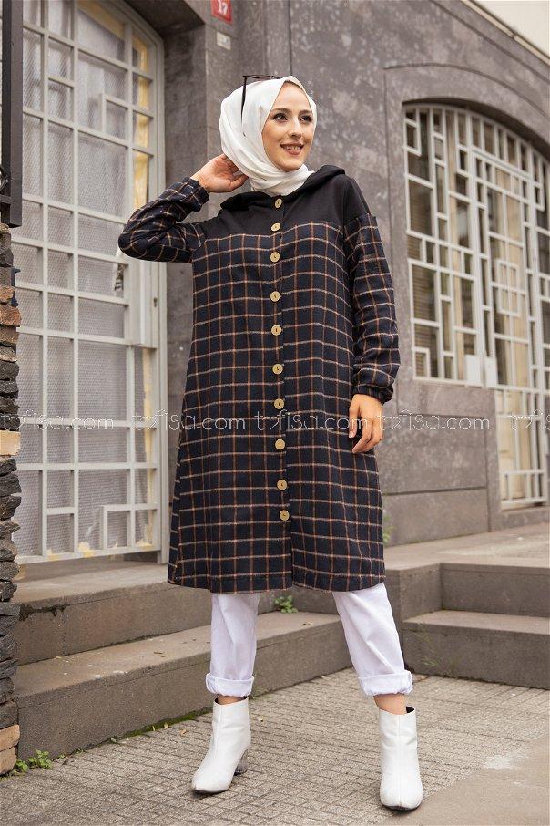 Hooded Tunic Tan - 8609