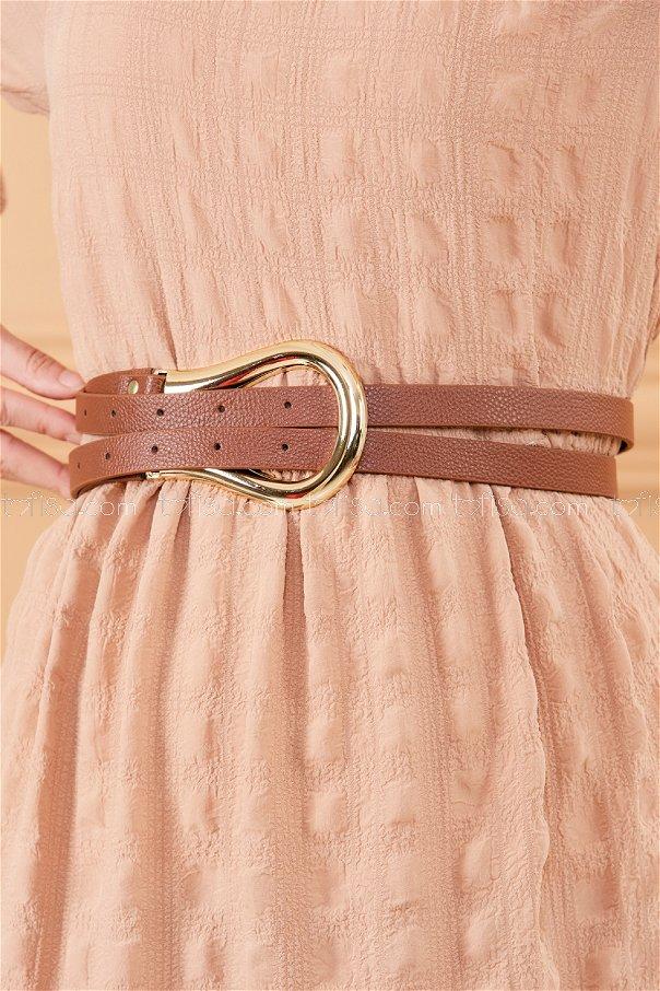 Horseshoe Buckled Belt BROWN - 20383