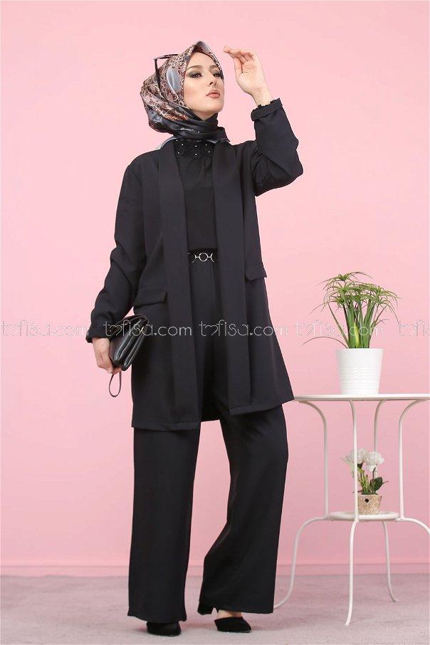 Jacket and Pants Black - 8398