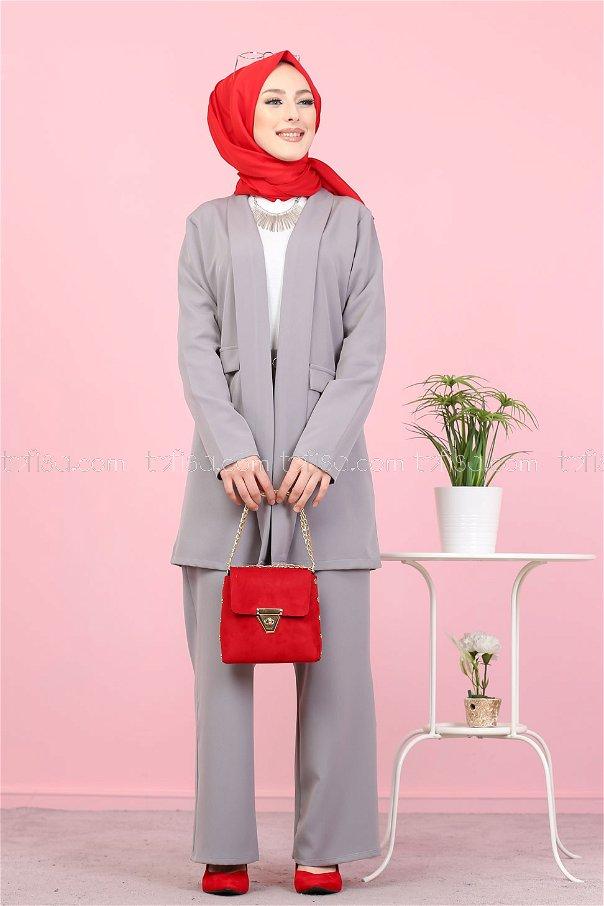 Jacket and Pants Grey - 8398
