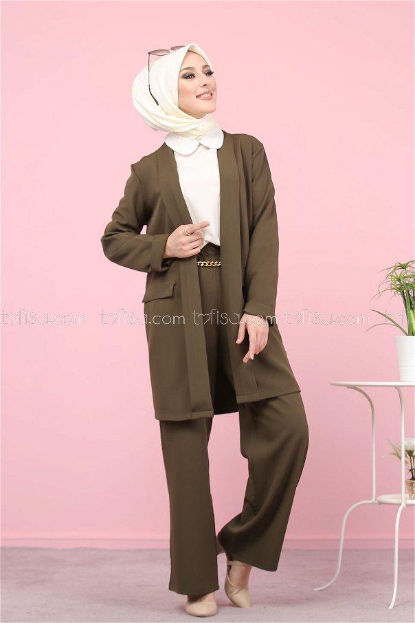 Jacket and Pants Khaki - 8398