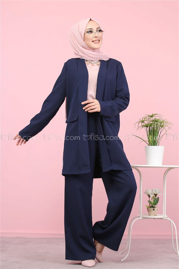 Jacket and Pants Navy Blue - 8398