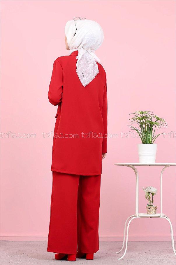 Jacket and Pants Red - 8398