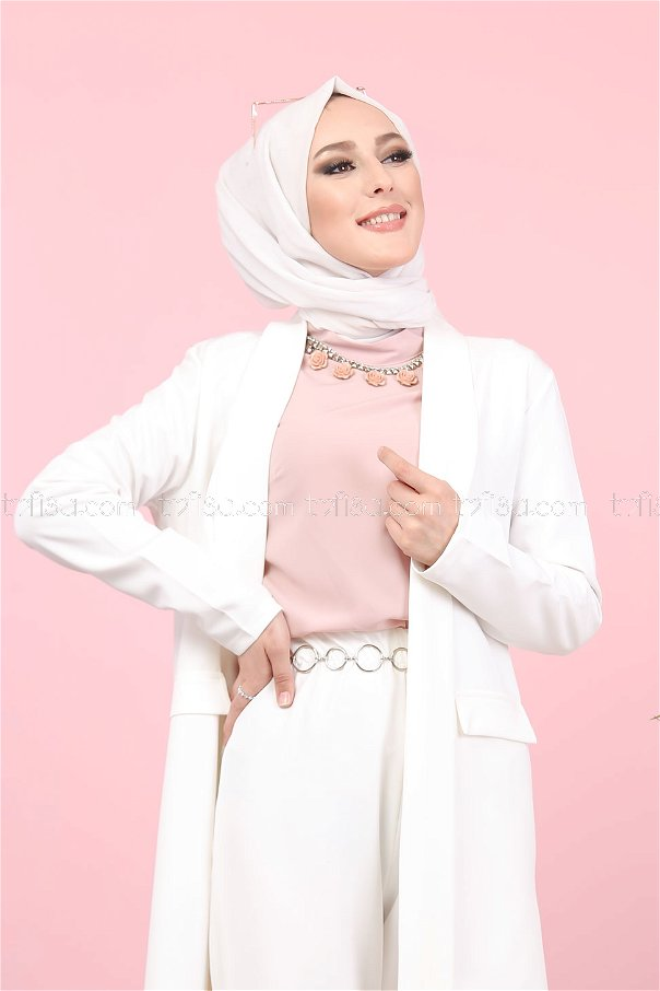 Jacket and Pants White - 8398