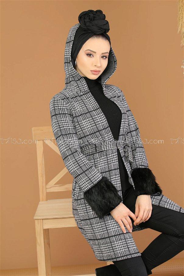 Jacket Fur sleeves gray 5211